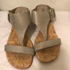 Donald J. Pliner metallic Demi wedge sandals